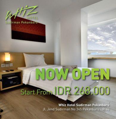Now Open Whiz Hotel Sudirman Pekanbaru