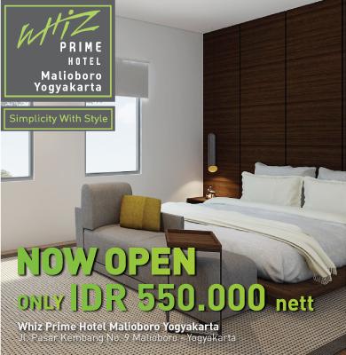 Now Open Whiz Prime Malioboro Yogyakarta